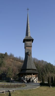 Free Wooden Church Front View Stock Photography - 1951642