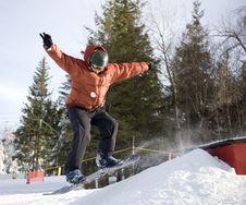 Free Snowboard Jump Royalty Free Stock Photography - 1952357