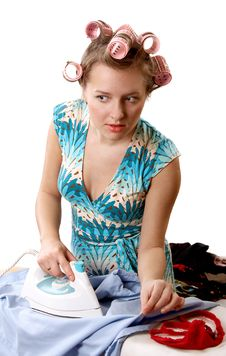 Free Ironing Woman Stock Images - 1954144