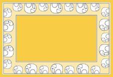 Free Elephant Pattern Orange Stock Photo - 1954470