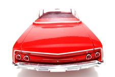 Free 1962 Chevrolet Belair Metal Scale Toy Car Fisheye Backview Royalty Free Stock Images - 1954679