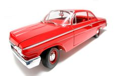 1962 Chevrolet Belair Metal Scale Toy Car Fisheye 3 Royalty Free Stock Images