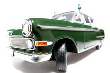Free 1961 German Opel Kapitän Police Scale Car Fisheye 3 Stock Photography - 1954802