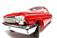 1962 Chevrolet Belair Metal Scale Toy Car Fisheye 5 Stock Photo