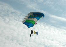 Free Parachuting - Back Lit Royalty Free Stock Photography - 1955447