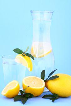 Water Lemon Royalty Free Stock Images