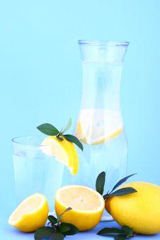 Water Lemon Royalty Free Stock Photo