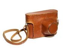 Leather Camera Case Stock Photo