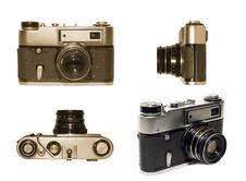 Free Old Fashioned Film Camera Multivew Stock Photo - 1957760