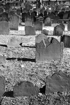 Free Many Old Graves In Bright Sunlight Stock Photography - 1959802