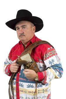 Free Cowboy With Holster Over Shoulder Stock Image - 1959891