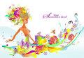 Free Summer Girl Royalty Free Stock Image - 19501196