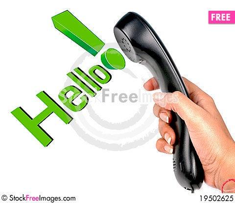 Phone communication Stock Photo