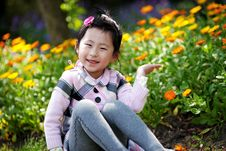 Free Chinese Lovely Girl Royalty Free Stock Photos - 19500308
