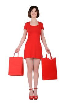 Free Woman In Red Royalty Free Stock Image - 19500396