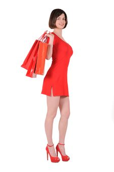 Free Woman In Red Stock Photos - 19500423