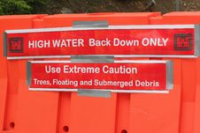 Free High Water Caution Sign Royalty Free Stock Image - 19500526