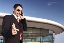 Business Person Talking On Phone. Stock Image