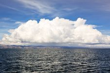 Cloud Over Titicaca Lake Royalty Free Stock Image