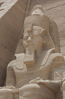 Free Statue Of Ramses II At Abu Simbel Stock Photo - 19501700