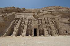 Free Temple Of Nefertari At Abu Simbel Royalty Free Stock Images - 19501789