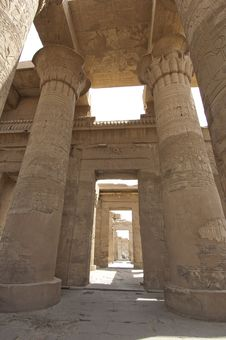 Free Columns In The Temple Of Kom Ombo Royalty Free Stock Photos - 19502448
