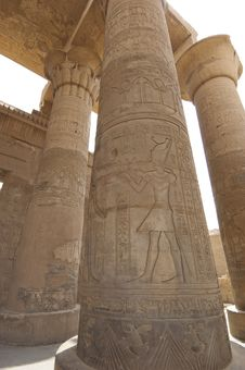 Free Columns In The Temple Of Kom Ombo Stock Photos - 19502503