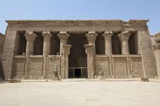 Entrance To The Temple At Edfu Stock Photo