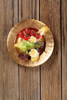 Fresh Vegetables And Boiled Egg Stock Photo