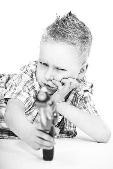 Free Boy With Gun Stock Image - 19503741