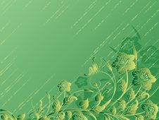 Free Green Floral Background Royalty Free Stock Image - 19503836