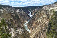 Free Lower Falls Yellowstone National Park Stock Photography - 19504972