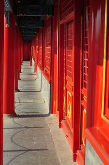 Free Red Doors In Chinese Ancient Architecture Stock Image - 19505361