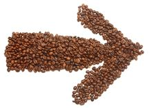 An Arrow Made Of Coffee Beans Stock Images