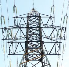 Reliance Power Lines Stock Photography