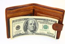 Free Wallet With Dollars Stock Photo - 19506680