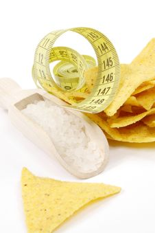 Free Salty Tortilla Chips Royalty Free Stock Photo - 19506835