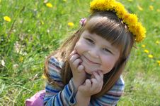 Free Smiling Little Girl Royalty Free Stock Image - 19506996