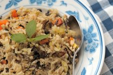 Free Authentic Vegetarian Fried Rice Royalty Free Stock Image - 19507416