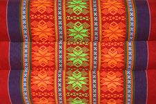 Free Texture Of Thai Style Textile On Pillow Stock Images - 19508794