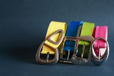 Free Coloured Belts Royalty Free Stock Photography - 19508857