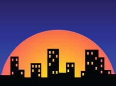 Free Abstract City Skyline Sunset Design Stock Photography - 19509422