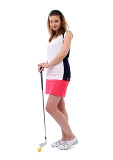 Free Lady Golfer Royalty Free Stock Photos - 19509588