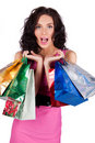 Free Happy Beautiful Young Woman With Shopping Bags Stock Image - 19515291
