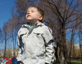 Free Young Boy Walks In The Park Stock Photo - 19519520