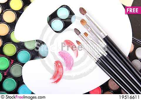 Free Professional Tools For Make-up Artist Stock Image - 19516611
