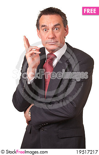 Surprised Shocked Business Man in Suit Stock Photo