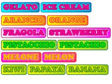 Free Flavors Of Ice Cream With Fruit Stock Photo - 19510310