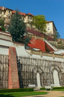 Prague Castle Gardens Royalty Free Stock Image