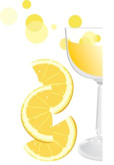 Free Glass With Juice And Pieces Of Orange. Fragment Royalty Free Stock Image - 19512096